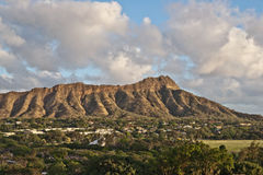 Diamond Head in Honolulu, Hawaii Stock Photos