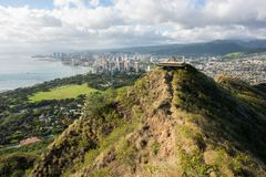 Diamond Head a Honolulu, stato delle Hawai Fotografia Stock