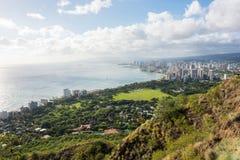 Diamond Head a Honolulu, stato delle Hawai Fotografie Stock Libere da Diritti