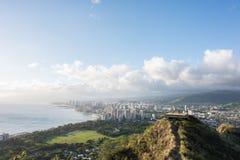 Diamond Head a Honolulu, stato delle Hawai Immagini Stock Libere da Diritti
