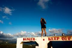 Diamond Head i Hawaii Arkivbild