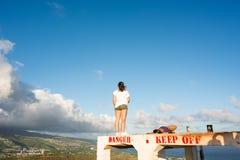 Diamond Head i Hawaii Arkivfoto