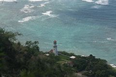 Diamond Head-Leuchtturm, Oahu, Hawaii stockbilder