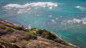 Diamond Head Lighthouse Royaltyfri Fotografi