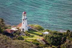 Diamond Head Lighthouse Arkivbilder