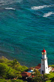 Diamond Head Lighthouse, Honolulu, Hawaii Stock Photo