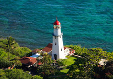 Diamond Head Lighthouse, Honolulu, Hawaii Stock Images