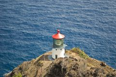 Diamond Head Lighthouse in Honolulu, Hawaii Stock Images