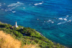 Diamond Head lighthouse in Honolulu Stock Images