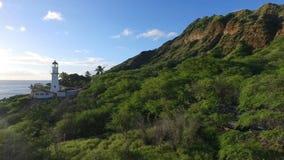 Diamond Head Lighthouse South Shore Oahu Hawaii almacen de video