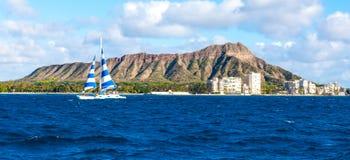 Diamond Head, Oahu Foto de archivo libre de regalías