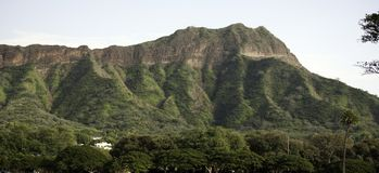 Diamond Head, Oahu, Hawaii Royalty Free Stock Photos
