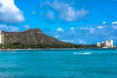 Diamond Head in Oahu, Hawaii. Diamond Head seen from Waikiki coast in Oahu, Hawaii Royalty Free Stock Photos