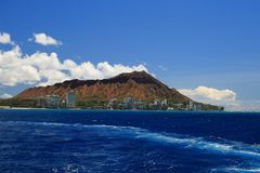 Diamond Head from the Ocean Royalty Free Stock Images