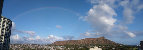 Diamond Head Rainbow Photo libre de droits