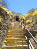 Diamond Head Stairs. Stairs leading to Bunker at former military asset, Diamond Head Crater, in Hawaii Royalty Free Stock Photography