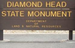 Diamond Head State Monument, Hawaï stock afbeelding
