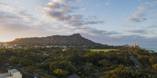Diamond Head Sunrise royaltyfri fotografi