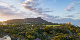 Diamond Head Sunrise Lizenzfreies Stockfoto