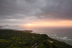 Diamond Head Sunrise in Dawn Stock Fotografie