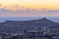 Diamond head sunset Royalty Free Stock Images