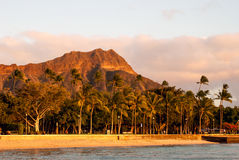 Diamond Head at Sunset Royalty Free Stock Images