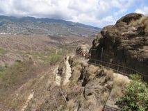 Diamond Head Trail. Switchbacks leading to the summit of Diamond Head Royalty Free Stock Photography