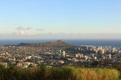 Diamond Head und Waikiki-Strand Lizenzfreies Stockfoto