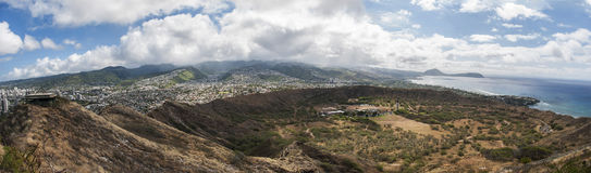 Diamond Head View - panorámico Foto de archivo