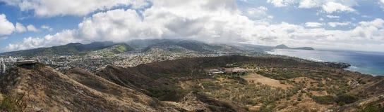 Diamond Head View - panoramisch Stockfoto
