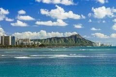 Diamond Head and Waikiki Stock Image