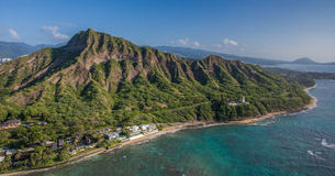 Aerial View Diamond Head Crater Honolulu Hawaii Stock Image