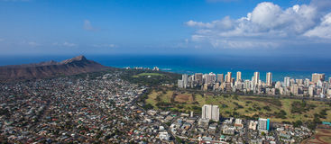 Diamond Head and Waikiki Royalty Free Stock Images