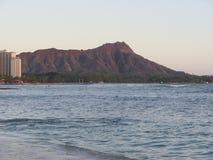 Diamond Head y océano hawaiano Foto de archivo libre de regalías