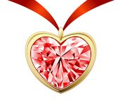 Diamond heart Royalty Free Stock Photo