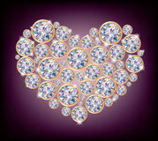 Diamond heart Royalty Free Stock Photos