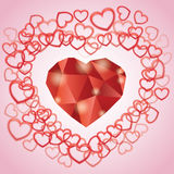 Diamond heart Stock Image