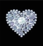 Diamond Heart Royalty-vrije Stock Fotografie
