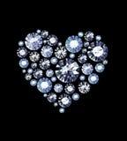 Diamond Heart Royalty-vrije Stock Foto's