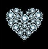 Diamond Heart Photo libre de droits