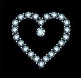 Diamond Heart Photographie stock