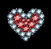 Diamond Heart Image libre de droits