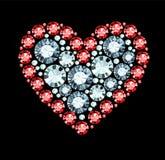 Diamond Heart Images libres de droits