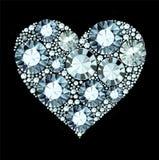 Diamond Heart Images stock