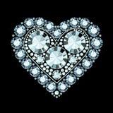Diamond Heart Photo stock
