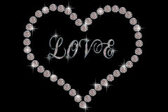 Diamond Heart Stock Images