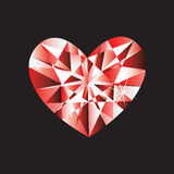Diamond heart Stock Photography