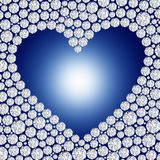 Diamond heart frame Royalty Free Stock Photography