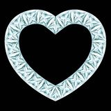 Diamond heart frame Stock Images