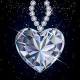 Diamond heart.  illustration Royalty Free Stock Photos